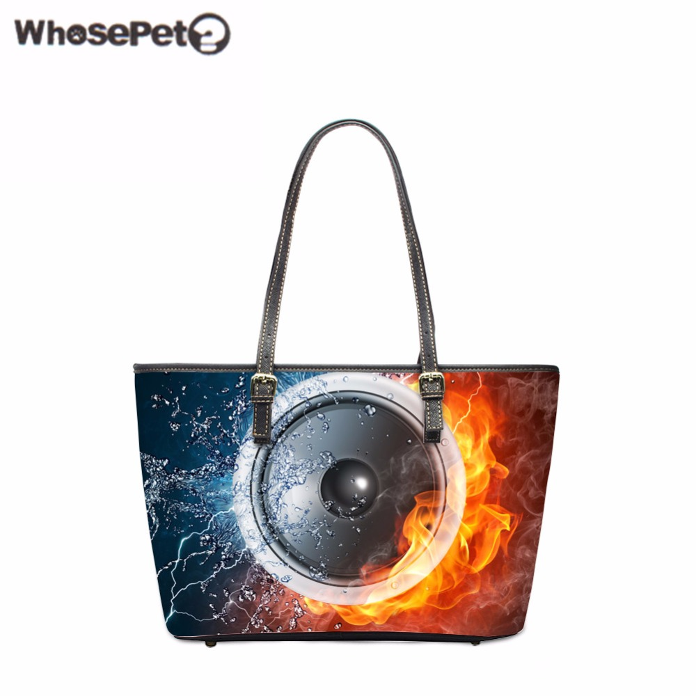 WHOSEPET Punk Shoulder Bags for Women Cool Handbags Ladies Pu Leather Bag High Quality Tote Bag Fashion Female Shopping Handbag new 2017 leather pu handbag women handbags nubuck fashion ladies shoulder bags high quality printing hand bag woman pink bag