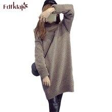 Fdfklak, зимняя одежда для беременных, Женская водолазка, длинный вязаный свитер для беременных, Одежда для беременных, Свитера для беременных