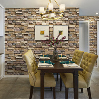45CM*10M DIY 3D Wall Stickers PE Foam Safty Home Decor Wallpaper Wall Decor Brick Living Room Kids Bedroom Decorative Sticker