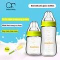240 ml 150 ml de vidro garrafa de leite do bebê de boca larga garrafa anti flatulência prova queda de silicone mamilo fontes do bebê recém-nascido