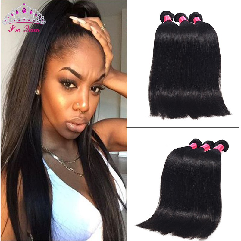 8A Hot Brazilian Straight Hair 3PCS Human Virgin Hair Straight Brazilian Hair Weave Bundles 100% Unprocessed Human Straight Hair