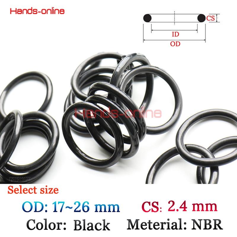 все цены на 10PCS/Lot Optional OD 17 18 19 20 20.5 21 22 23 24 25 26 mm CS/WD 2.4mm NBR Rubber O ring O-ring Oring Seal Gasket онлайн