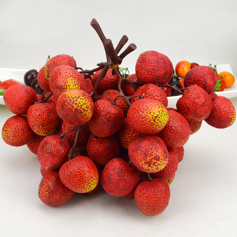 050 Plastic high imitation litchi string fruit and vegetable model fake litchi in Artificial Foods Vegetables from Home Garden