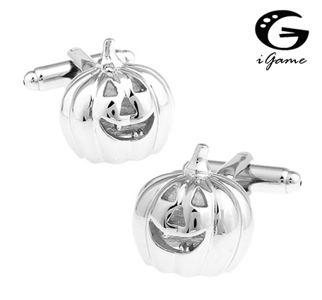 Igame Factory Price Pumpkin Lantern Cufflinks Silver Color Brass