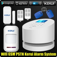 Wholesales KERUI W2 Wifi GSM PSTN Telephone Landline Home Alarm APP ISO 433MHz TFT Golor Screen