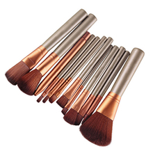 12 Pcs Makeup Tools Kit Cosmetic Eyeshadow Lip Foundation Concealer Brushes Set  2015 New arrival 67QR