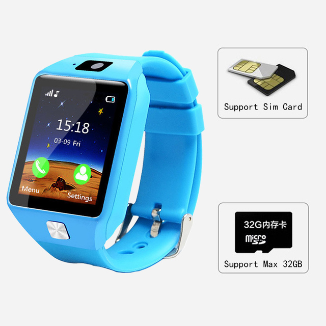PIKANOMI New 1.54 Inch Touch Screen Smart Watch Children Wrist Smartwatch Bluetooth Watch With SIM Card Passometer