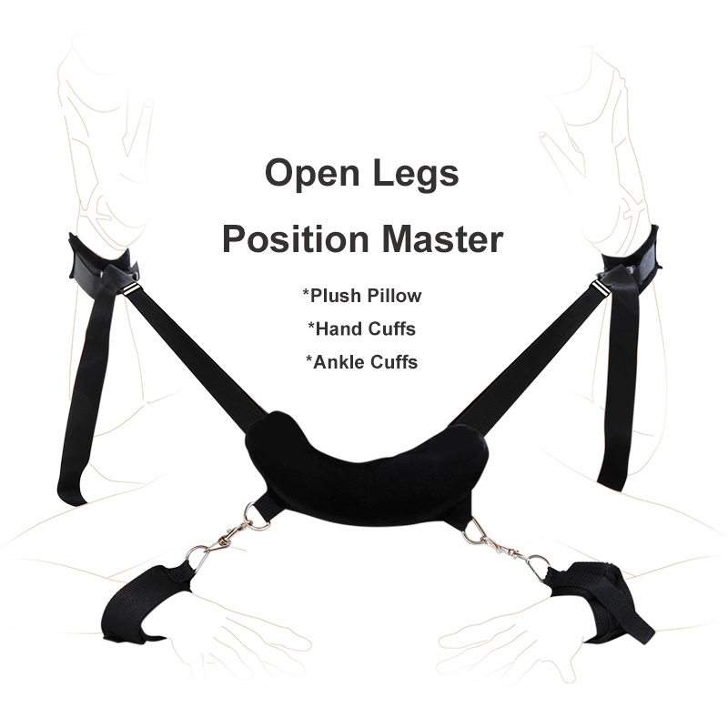 Fetish Position Master Open Legs Pillow with Hand Cuffs Ankle Cuffs, bdsm Bondage Restraints Harness Erotic Sex Toys for Couples 6pc lot sex pillow hand cuffs leg cuffs mouth gag goggles ring adult sex toys for couples bondage fetish erotic toys