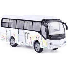 จำลองสูงรถโดยสารรุ่น1:50ชั่งลูมิเนียมดึงกลับรถรุ่นรถบัส, iecastโลหะรุ่น,เสียงและแสงของเล่นยานพาหนะ,จัดส่งฟรี d