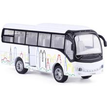 ハイシミュレーションバスモデル、1:50スケール合金引き戻すモデルバス、ダイキャストメタルモデル、サウンド&ライト玩具車両、送料無料