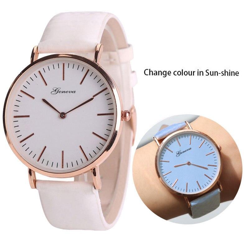 Модные для мужчин повседневные часы ультра-тонкий для женщин браслет часы температура Dis цвет ation цвет повседневное наручные 2019 дропшиппинг