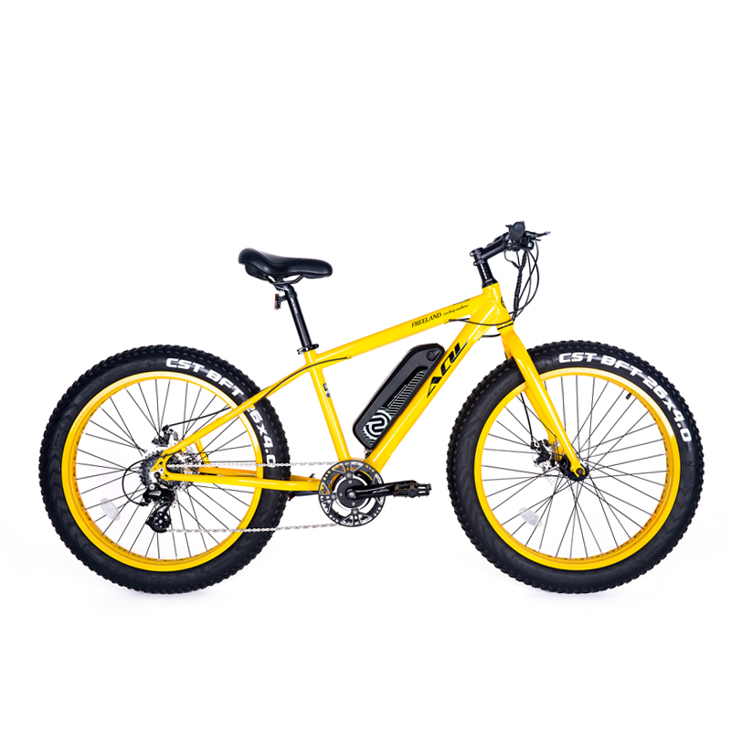 26inch electric mountian bike 36V240W Mid-motor 4.0 fat tire ebike All-terrain snowy beach power-assisted bicycle