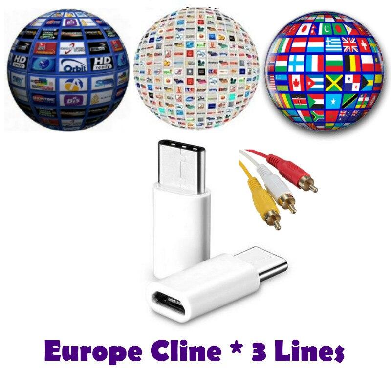 1 year/6 mese CCCAM 3 clines. Per Il Ricevitore Satellitare Set top box Spagna REGNO UNITO Germania Francese POLSAT MOVISTAR