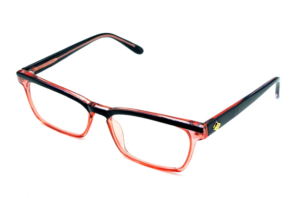 CAT EYE RED FADE SQUARE LADIES GLASSES FRAME CUSTO...