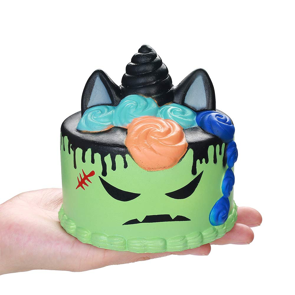 Jumbo Halloween Cake Unicorn Squishy Slow Rising Soft Squeeze Toys Bread Scented Relieve Stress Fun For Kid Baby Xmas Gift Toy