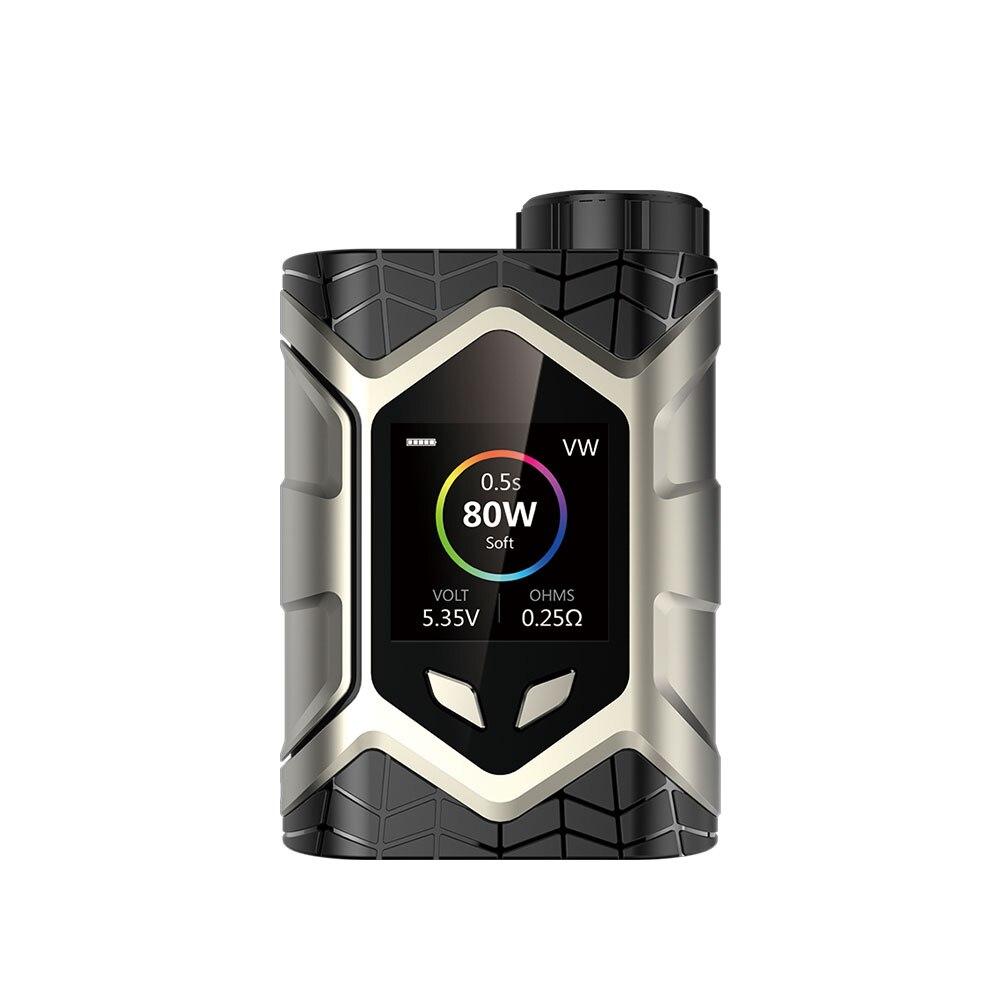E cigarette MOD Authentic Wall Crawler 80W TC Box Mod 18650 Battery Temperature Control box mod Fit Frogman Tank 510 Thread Vape