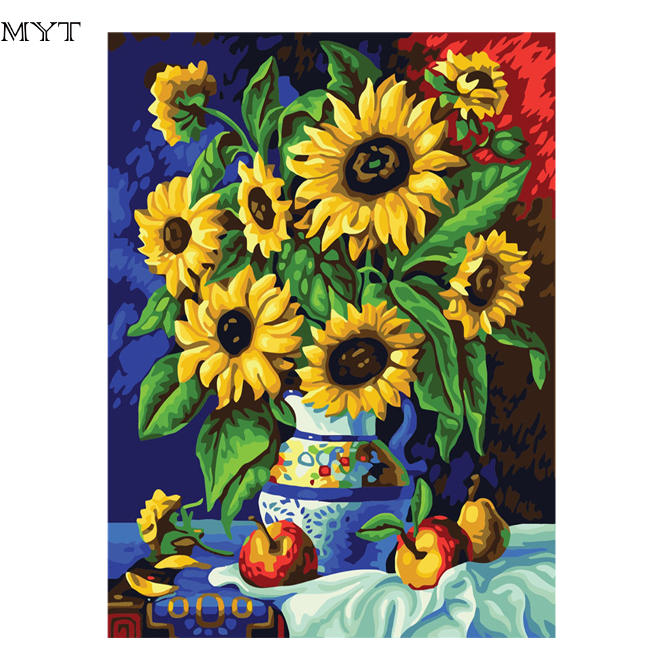 MYT Hot Sale DIY Digital Canvas Oil Painting By Numbers Pictures ...