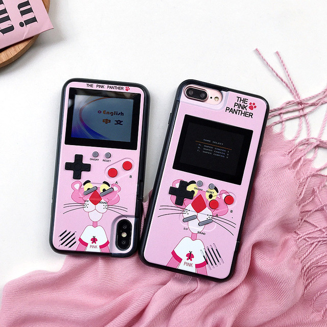low priced 1a1de f3a83 US $14.69 13% OFF|Full Color display GameBoy case for iphone 6 6s 7 8 plus  Game boy Tetris Game chargeable Cover For iphone X XS XS MAX Case funda-in  ...