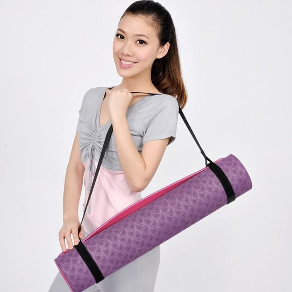 New Convenience Portable Yoga Mat Sling Sports Canvas Belt Fitness Gym Adjustable Carrier Shoulder Carry Strap