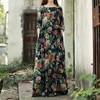LZJN Spring Autumn Women Vintage National Trend Long Sleeve O Neck Floral Print Casual Loose PLus