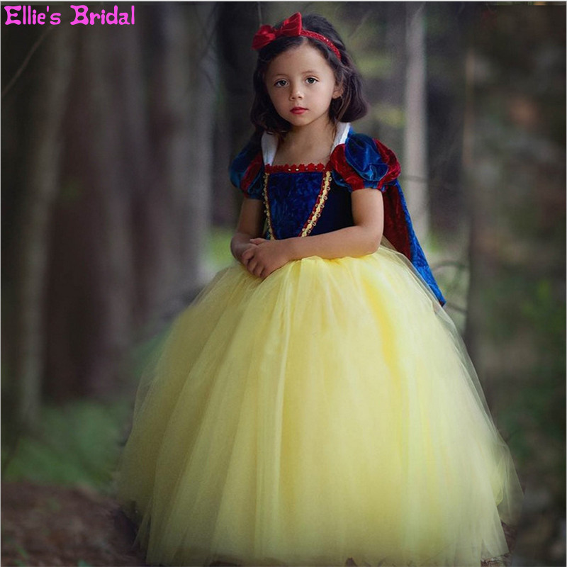 Children Cosplay Snow White Dress Girl Princess Dress Halloween Party Costumes for Kids Ball Gowns Tulle Girls Dresses 3pcs/Set devil may cry 4 dante cosplay wig halloween party cosplay wigs free shipping