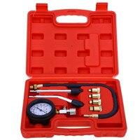 DHL Free Petrol Gas Engine Cylinder Compressor Gauge Meter Test Motor Auto Pressure Compression Tester Leakage