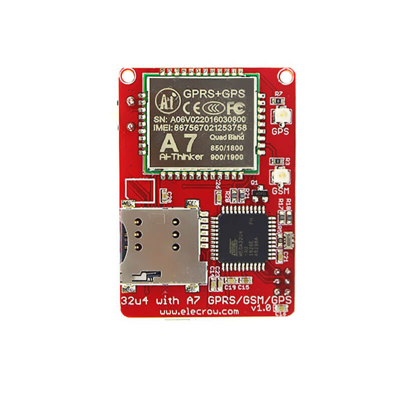 Elecrow A7 GSM GPRS GPS Module with Mega32U4 3 In 1 Development Board GPRS GPS Wireless IOT Projects 3.7V Integrated Circuits a7