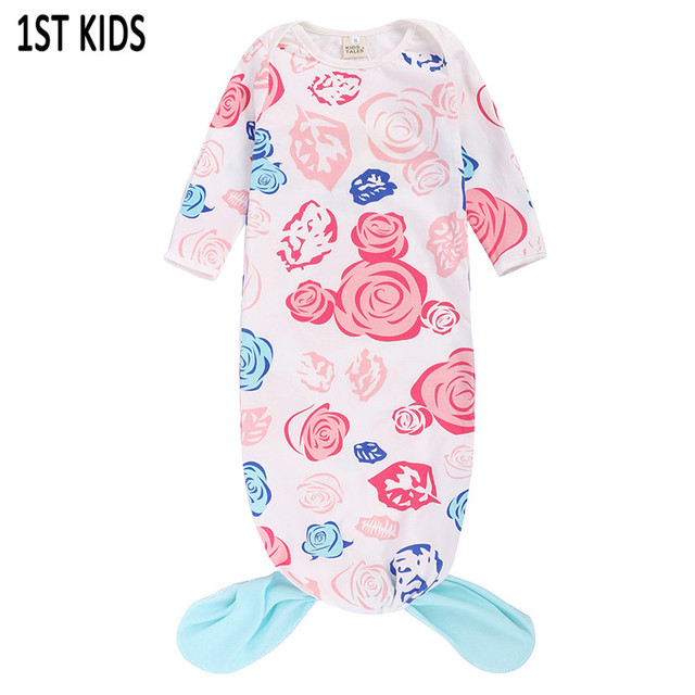 Rose print sleeping bag