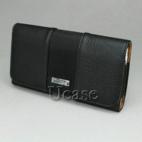 Luxury Horizontal Litchi Grain Leather Cases Flip Covers Skins Holster Pouch With Belt Clip For Samsung