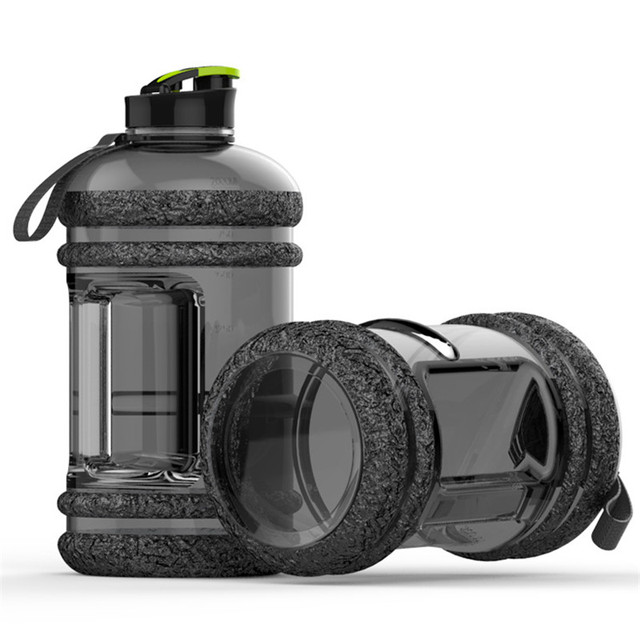 Large Capacity 2.2L Pastic Water Bottles Camping Training Bicycle Drink Water Bottle Outdoor Sports Portable Fitness Kettle 1