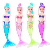 Color Random Waterproof LED Light Swimming Mermaid Doll Kid Girls Toy Bath Swimming pool New 2019 Hot Selling High Quality