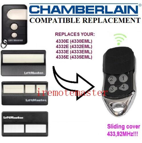 Compatible Chamberlain 4335E 4330E 4332E replacement remote control DHL free shipping 433.92MHZ motorlift 4335e 4335eml 4330e 4330eml 4333e 4333eml 4332e eml replacement remote control free shipping