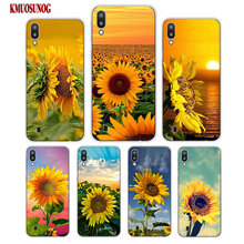 Transparent Soft Silicone Phone Case The most beautiful sunflower for Samsung Galaxy S10 S10e Plus S10+ M10 M20 Cover