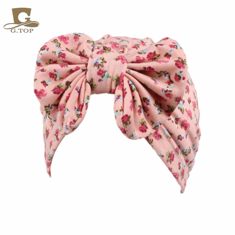 f42a8c6f0dd Girls vintage big bow Headbands fruit pattern kids Hat Girl Soft Cute  Turban kids beanie Knotted hair band-in Hair Accessories from Mother   Kids  on ...