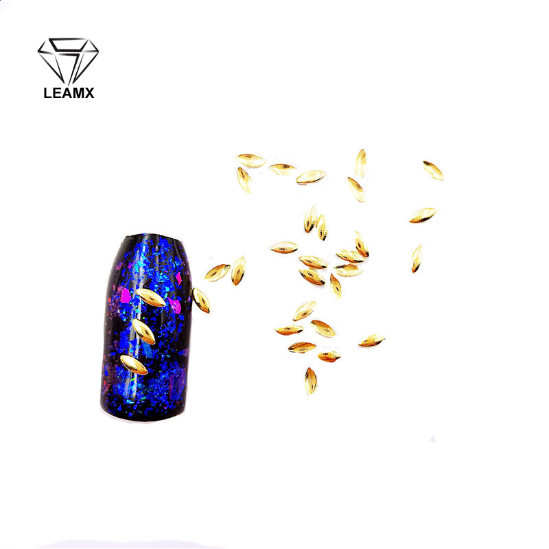 100 PCSbag Water Droplets Copper Alloy 3D Nail Art Sparkling Charm Decoration Fingertips Decoration Jewelry Nails Salon Supplie