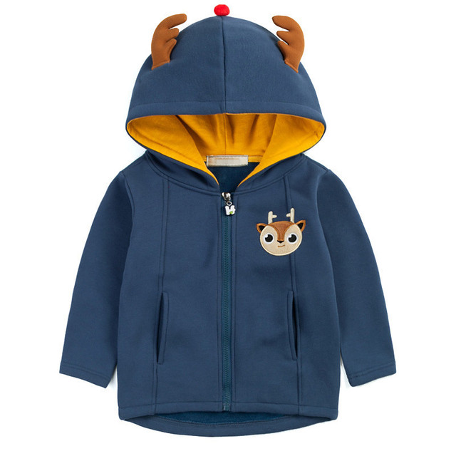 Kids New 2017 Spring&Autumn Children Kids Boy girl hoodies Boys stripe fleece jackets and coats kids boys sweatshirt