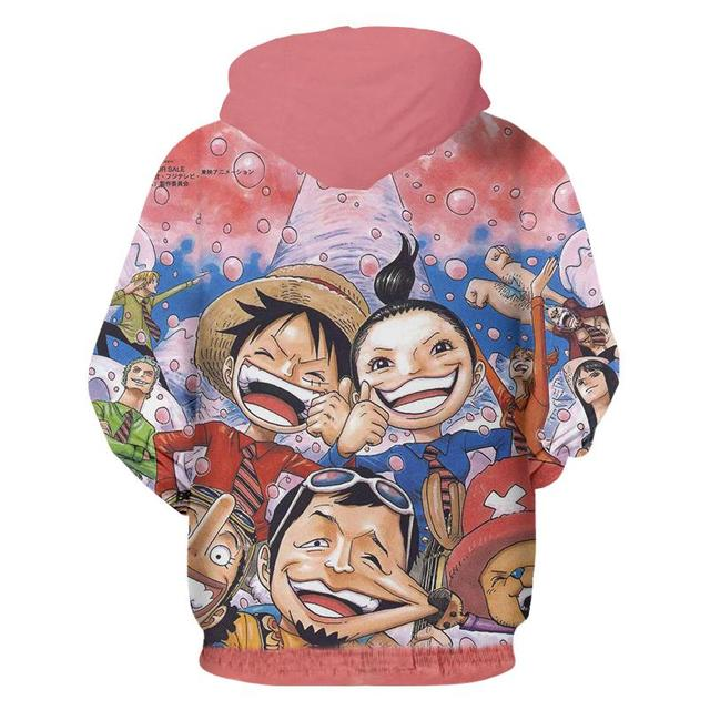 FUNNY LUFFY 3D HOODIES