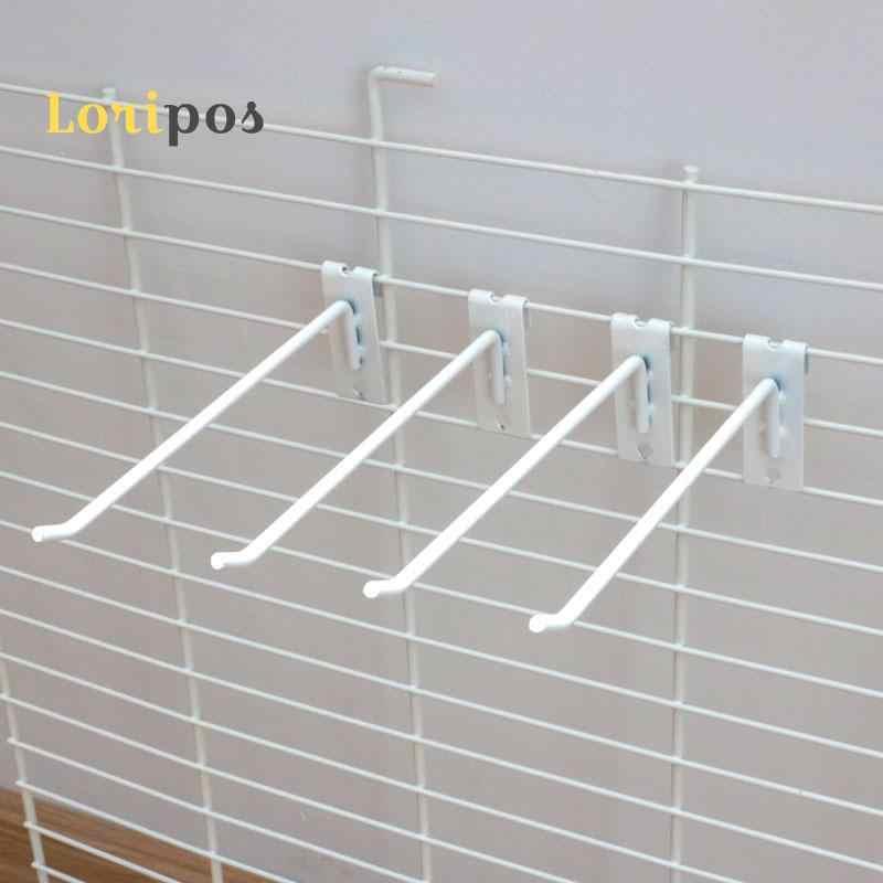 Montar Prateleira de parede Suporte de Prateleira Malha de Exibição de Montagem Em Rack Cabide Peg Cestas de Malha Net Pendurado Organizador Prateleira Estantes de Parede Gancho