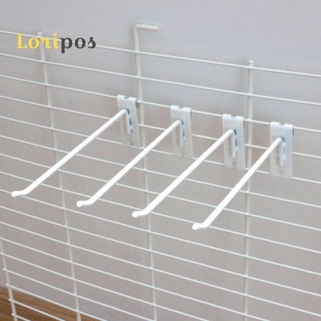 Wall Shelf Mount Bracket Mesh Shelf Mounting Rack Display Hanger Peg ...