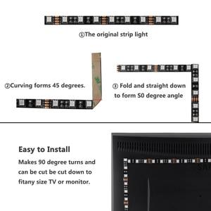 Image 5 - 12 v ledライトストリップrgb 5050黒pcb 1メートル2メートル60led/メートルpcのtv防水柔軟な12 vルームライトストリップリボンテープ装飾ランプ