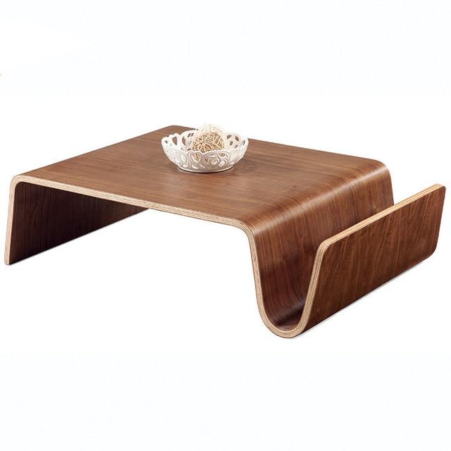 Mediados de siglo diseño madera moderna mesa de centro para el ...