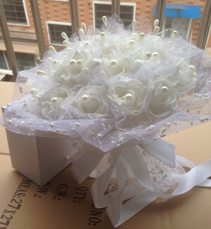 "aliexpress : buy wedding flower ""handmade"" silk flowers bridal"