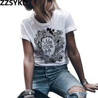 ZZSYKD 2018 Vogue T Shirt Women Summer Funny Tees  ...