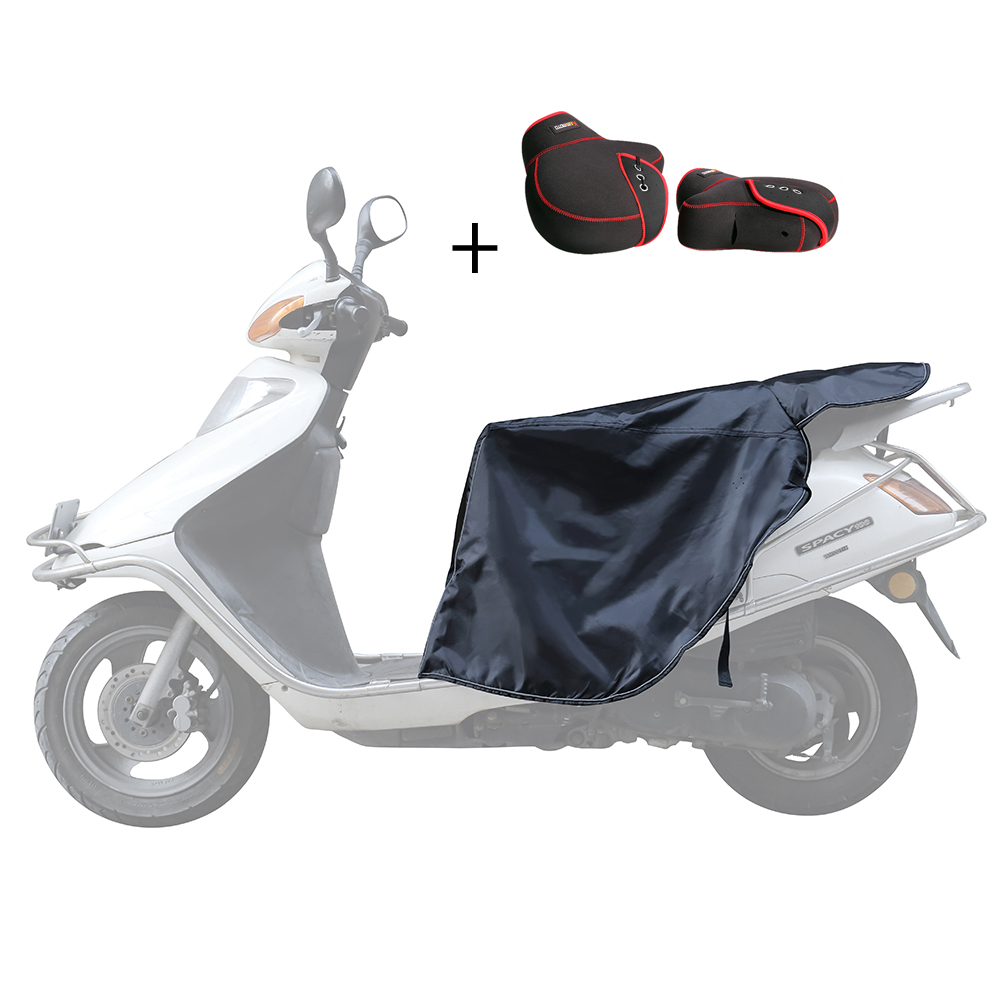 Universal Leg Cover For Scooters Rain Wind Cold Moisture Protector Knee Windproof Winter Quilt & Mittens Motorcycle Warm Gloves feu led tmax 530