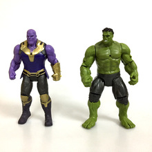Super Hero The Avenger Toys Action Figure Thanos Hulk Toy With LED Thor Spiderman PVC Action Figure Toys Dolls цена и фото