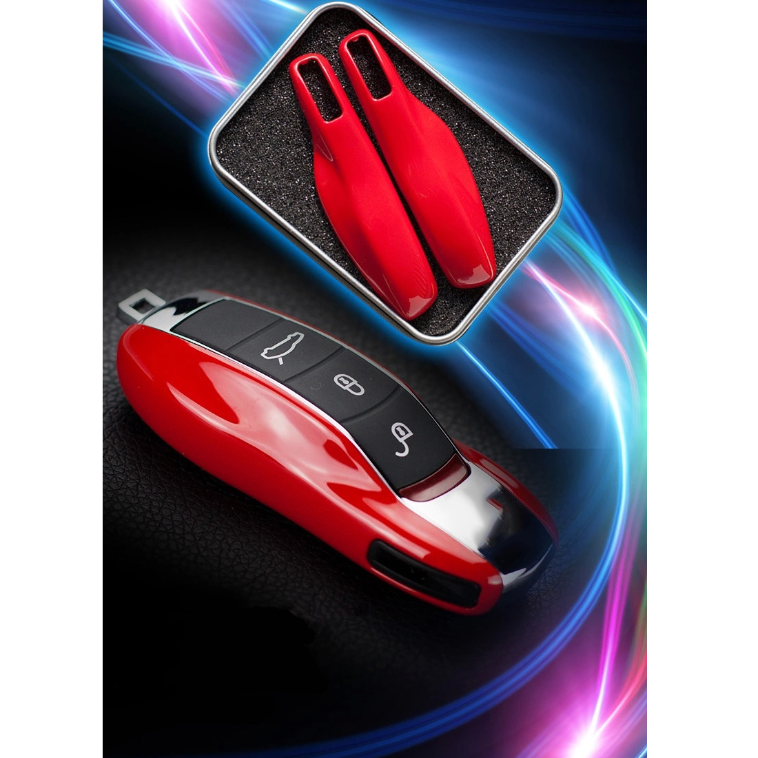 Dewtreetali Car styling Car Key Case Protective Shell ABS Plastic Bag Box  For Porsche Cayenne Macan Cayman Boxster 911-in Key Case for Car from  Automobiles ...