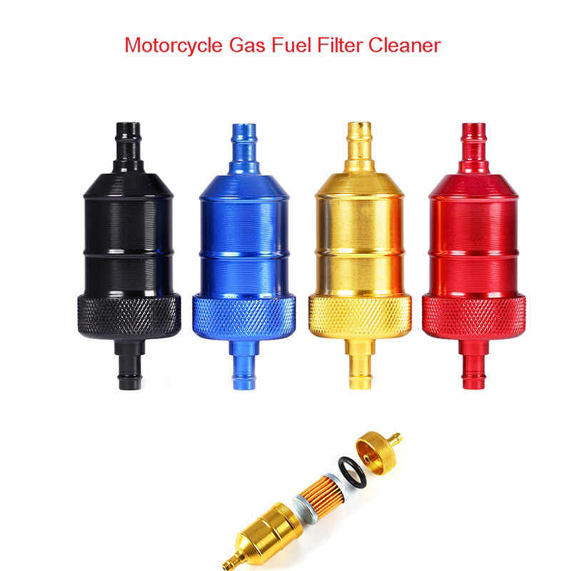 5 Color 8mm Petrol Gas Fuel Filter Cleaner For Motorcycle Pit Dirt Bike ATV Quad Inline Oil Gas Fuel Filter