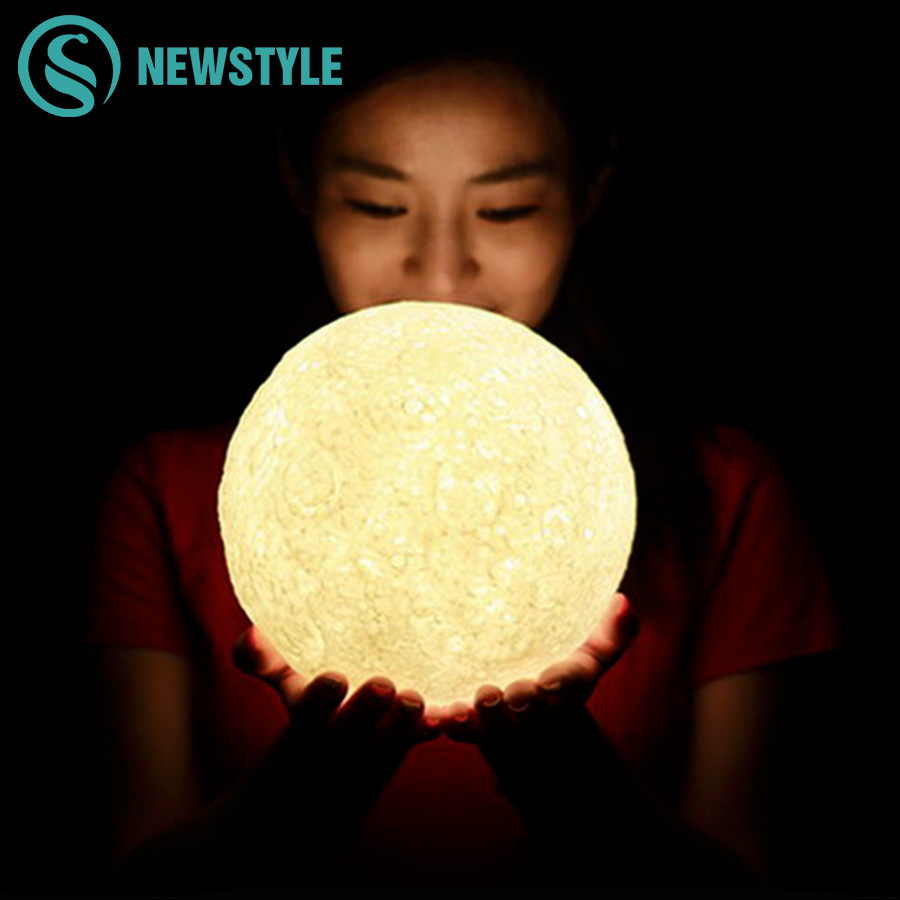 3D Magical Moon Light Creative LED Night Light USB Charging Desk Lamp Atmosphere Light Novelty LED for Christmas Decoration