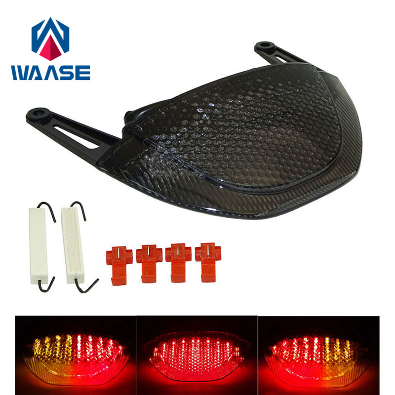 waase EMARK Taillight Tail Brake Turn Signals Integrated Led Light For 2007 2008 2009 2010 2011 2012 HONDA CBR 600 RR CBR600RR aftermarket motorcycle parts led tail brake light turn signals for 2008 2012 hayabusa gsx1300r smoke