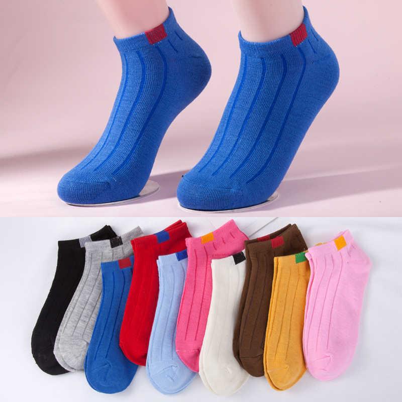 ผู้หญิงถุงเท้าข้อเท้า Stripe Casual ถุงเท้าแฟชั่น Lady สีดำถุงเท้าสั้น 2019 สไตล์ใหม่ Dropshipping